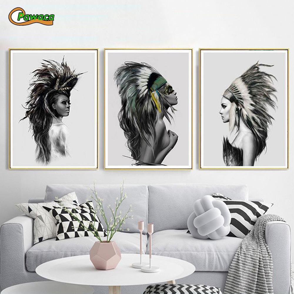 Native American Indian Home Decor: Aliexpress.com : Buy Wall Art Paintings Waterproof Native