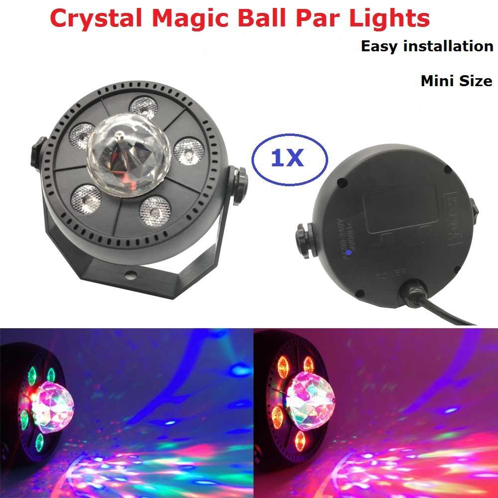Warna-warni Crystal Magic Ball Lampu PAR Lumiere 11W Suara Diaktifkan Laser Lampu Panggung Lighting Efek DJ Lampu LED cahaya
