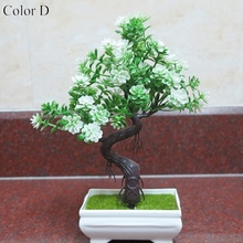 1 Set simulation flower bonsai fake plant decoration for office table accessories artificial + vase party Christmas decor