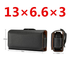 Premium Universal Black Holster Leather Case Cover Belt Clip For Nokia 3310 for ZTE L660 For Neken EN3 for Gionee W909 Bag Case