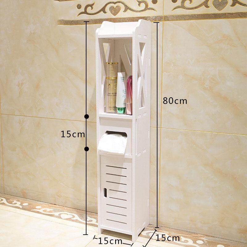 Small Bathroom Vanity Floor Standing Bathroom Storage Cabinet Washbasin Shower Corner Shelf Plants Sundries Storage Racks