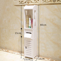 Small Bathroom Vanity Floor Standing Bathroom Storage Cabinet Washbasin Shower Corner Shelf Plants Sundries Storage Racks