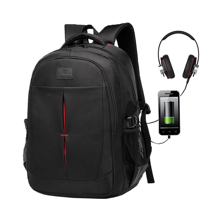 Casual Men  backpack Swiss Anti-theft Backpack Multifunction USB Charging Laptop Bag Waterproof Mochila