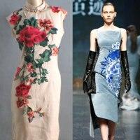 Lớn kích thước hoa 3 cái/bộ vá thêu đính diy may về thời trang trang trí patches ví quần áo parches para la ropa
