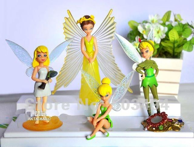 Free shipping 20/LOT Tinkerbell Fairy Anime Figure Toy Wholesale and Retail (4pcs/set)