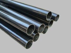 Image 2 - 2 PCS 3K Carbon Fiber circular tube Thickness 1mm OD 42mm  44mm 47mm 50mm 56mm Carbon Fiber Hollow Tube for UAV Model Materials