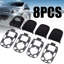 8pcs Left and Right Door Handle End Cap With Seal Handle Cap Kit For Peugeot 307 For Citroen C2 C3