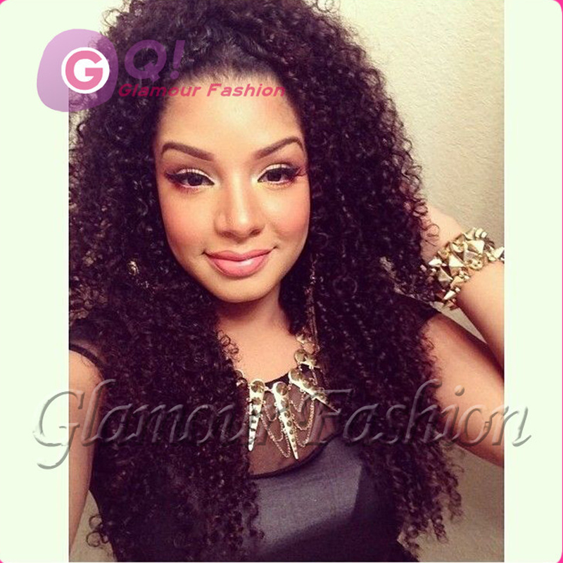 GQ Kinky curly wig african american glueless full lace ...