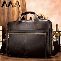 MVA männer aktentasche/echtes Leder umhängetasche männer leder/business laptop büro taschen für männer aktentaschen männer der taschen 8572