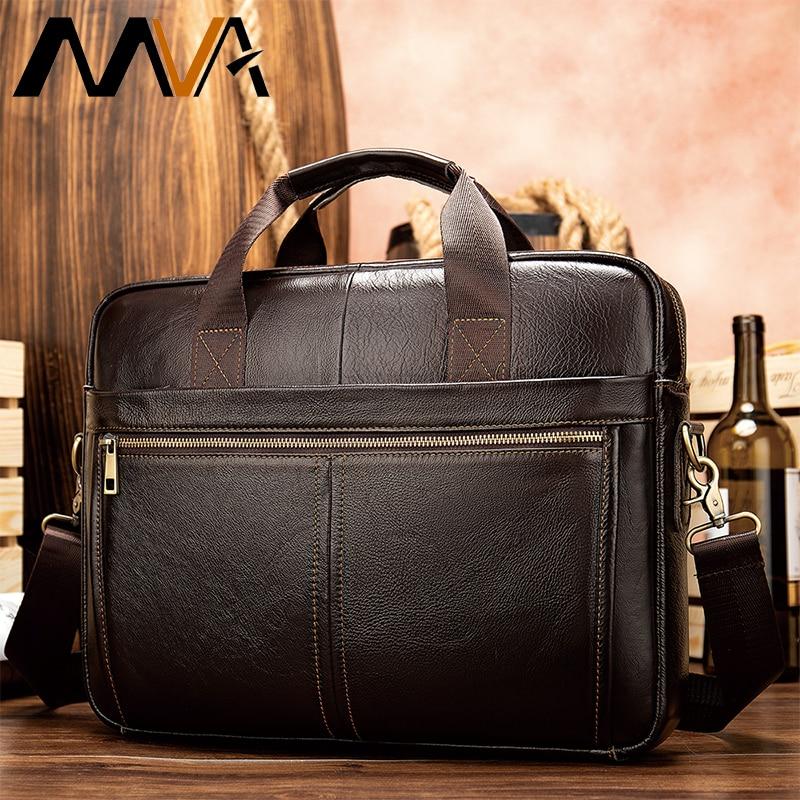 Genuine Leather Messenger Bag Men