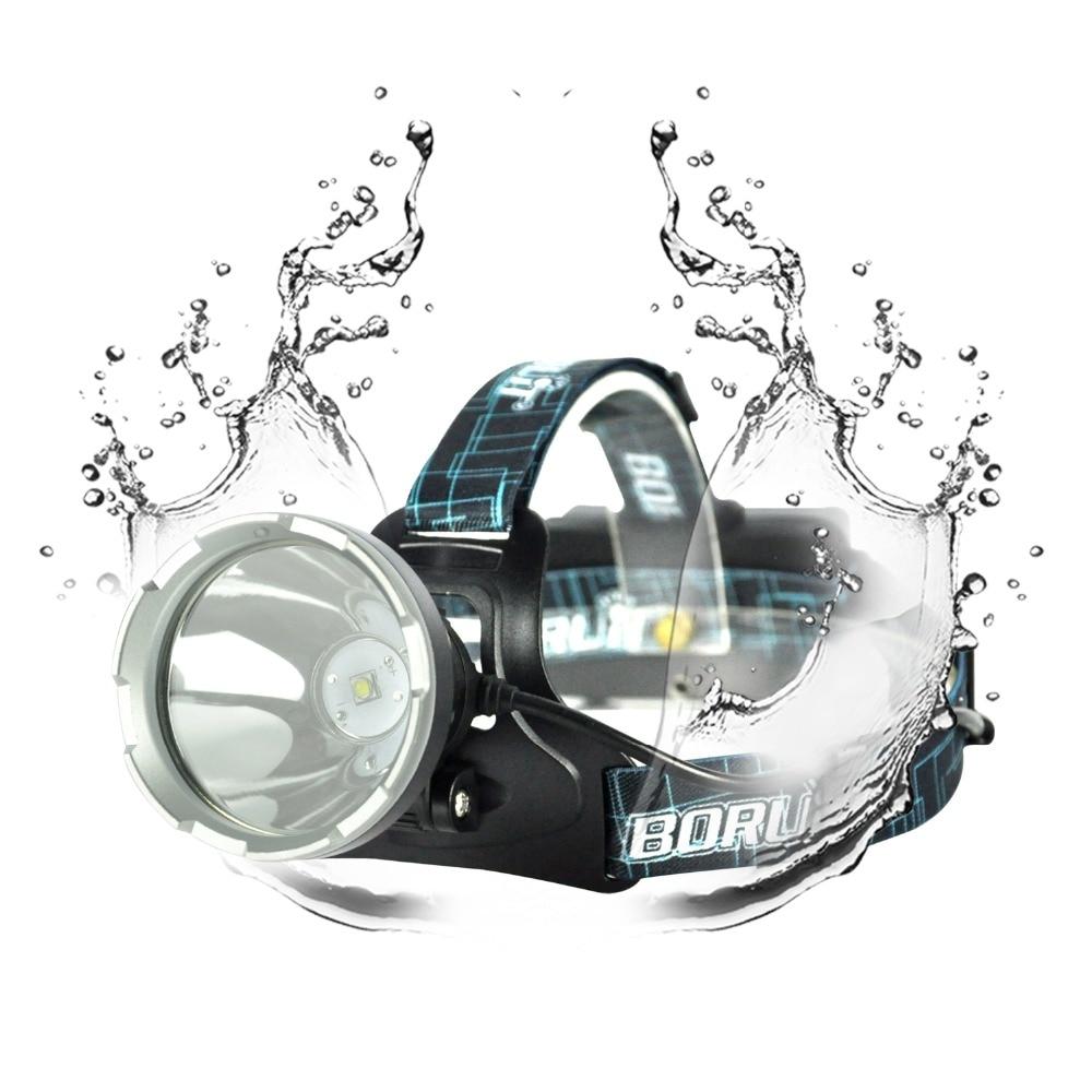 BORUiT B10 Micro USB Rechargeable Headlamp Head Light Torch Lamp 1200LM XM-L2
