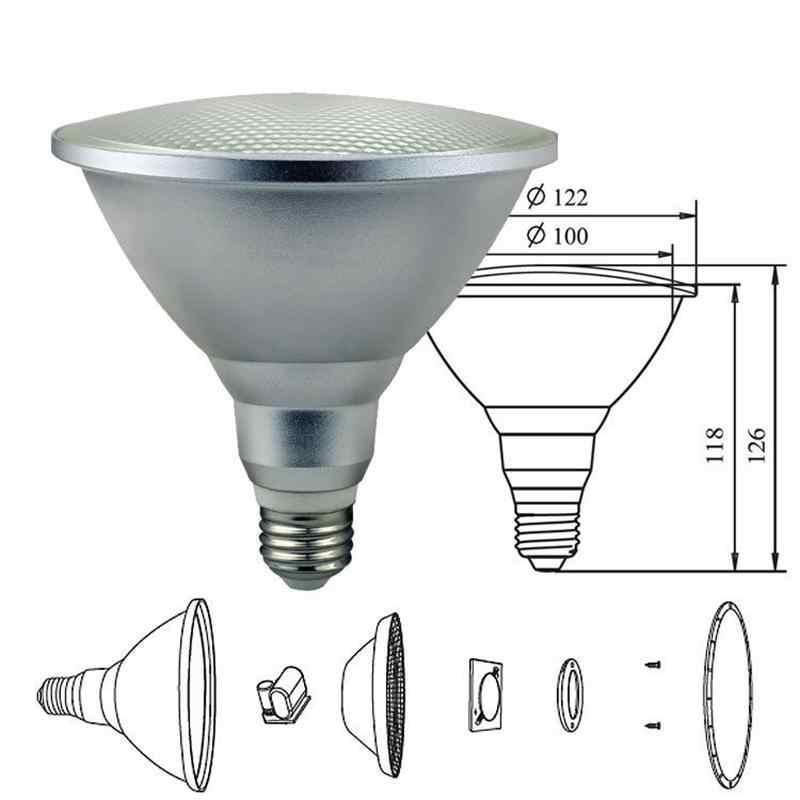 Водонепроницаемый RGB Par30 Par38 светодиодный пульт дистанционного управления Волшебная осветительная лампа 10 Вт 20 Вт RGB Светодиодный прожектор внутренний/наружный Декор
