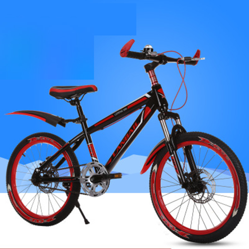 Mountain Bike 20-Inch Shock Absorber Two-Disc Brake Children's Bicycle Bicycle Road Bicycle