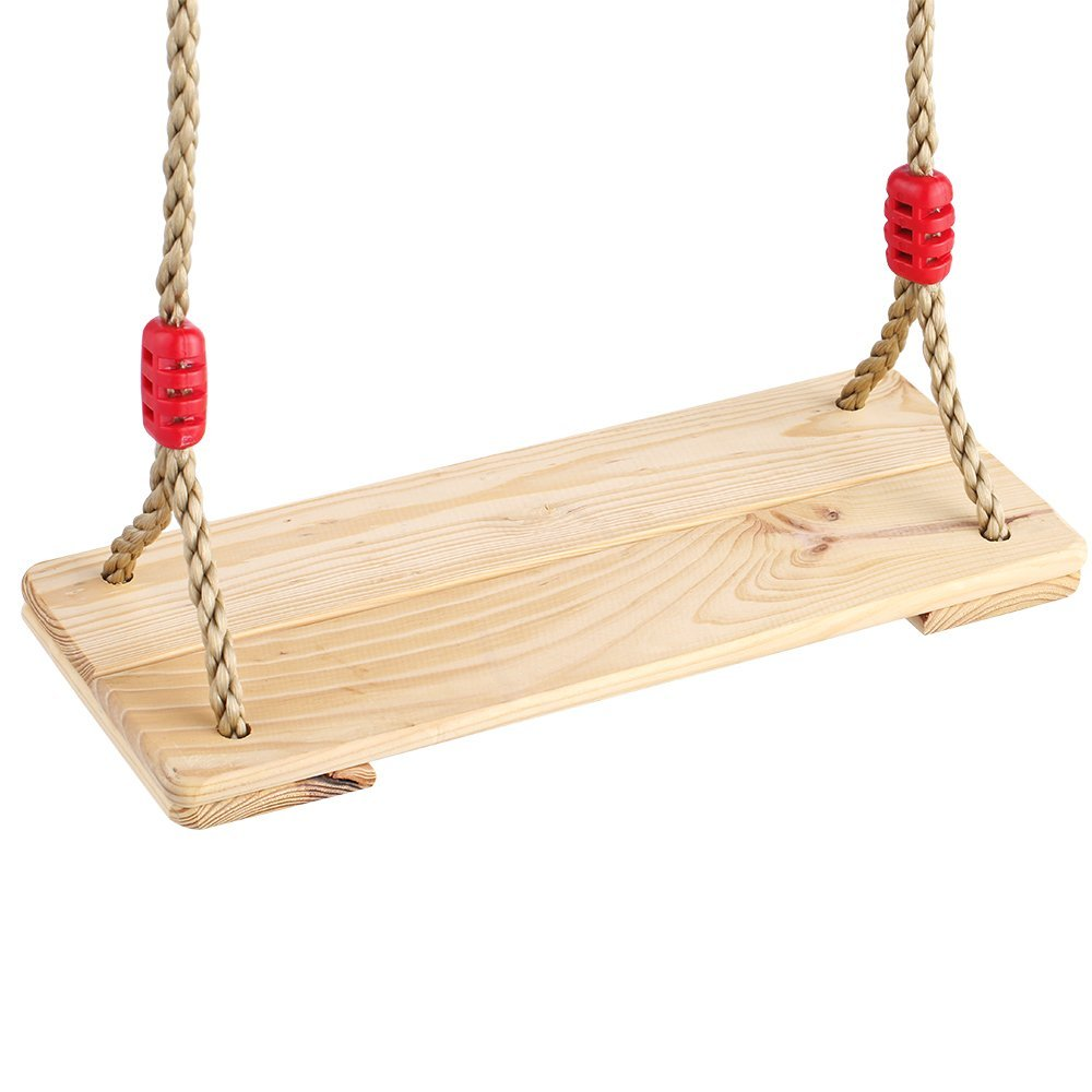 indoor outdoor children kids 2pcs hardwood wooden hanging