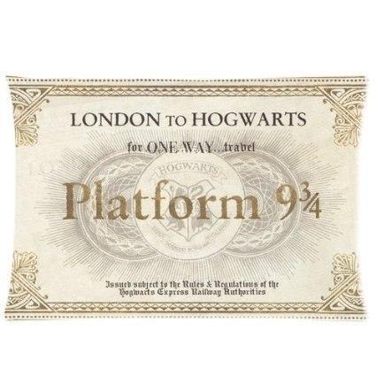 LUQI Harry Potter Hogwarts Train Ticket Zippered Pillowcase Pillow Cover 20x30 inches Bi ...