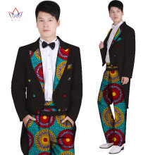 a28673124ce9e New Fashion 2018 African Wax Print Men s suit tuxedo Dashiki Top and Trouser  Set Plus Size