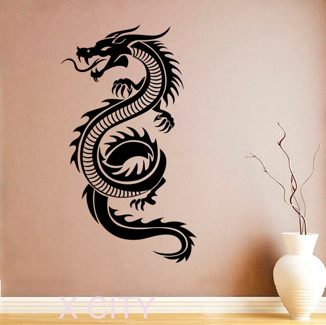 Chinese Dragon Sticker Wall Art Orient Mythology Decal Vinyl Home Interior  Design Murals Living Room Decor