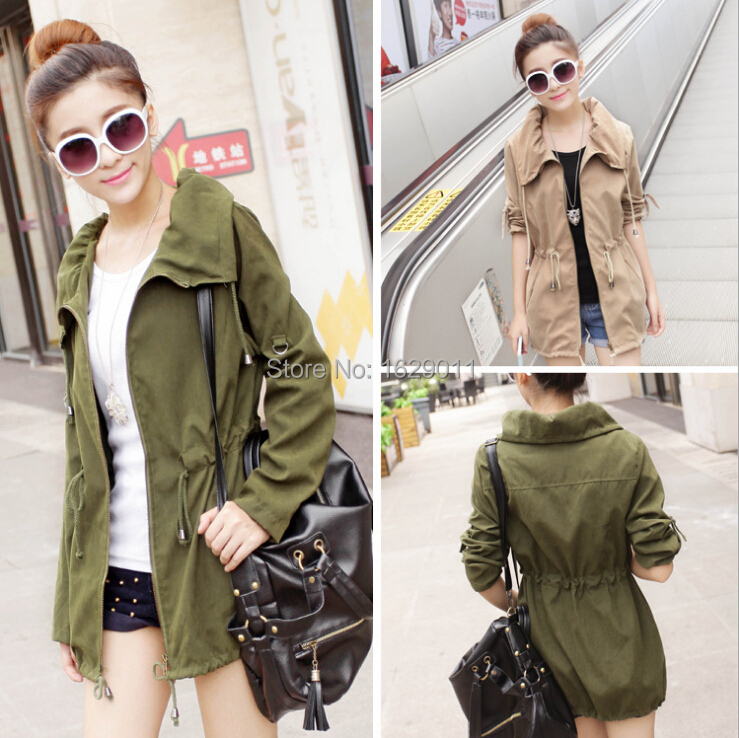 6aef32672e9e Online Shop Military Jacket Women Fashion Ladies Jackets Spring .