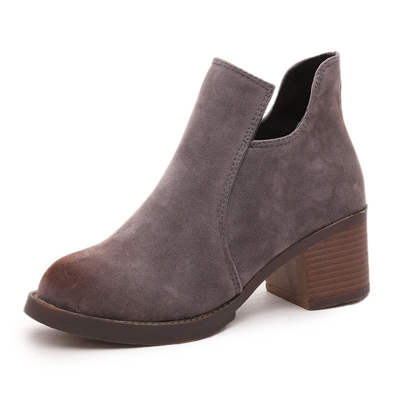 Online Get Cheap Black Suede Wedge Ankle Boots -Aliexpress.com ...