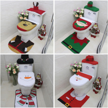 Christmas Decorations for Home Santa Claus Toilet Seat Cover Set Bathroom Product New Year Navidad Decoration