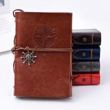 Cuaderno espiral Vintage viajero diario Sketchbook Plan semanal de cuero PU notas libro diario papelería oficina escolar