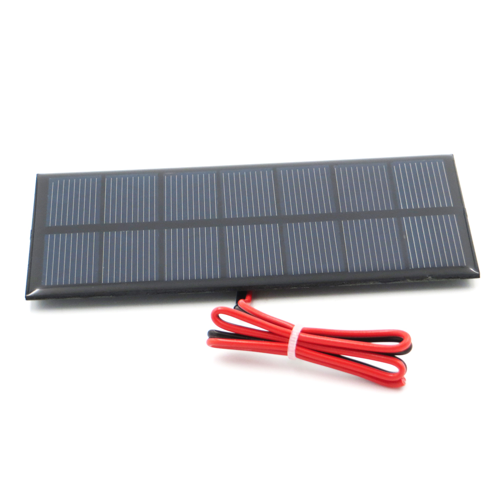 1pc x 3.5V 250mA with 30cm extend wire Solar Panel Polycrystalline Silicon DIY Battery Charger Small Mini Solar Cell cable toy
