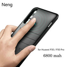 Neng 6800 Mah Silikon Shockproof Battery Charger Case untuk HuaweiP30 Pengisian Back Cover Slim Power Bank Eksternal Capa Kasus(China)