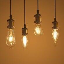 Warm LED Filament Bulb LED Retro Edison Lamp 220V E14 E27 Vintage Candle Light Globe Chandelier Light Replace Incandescent Bulb