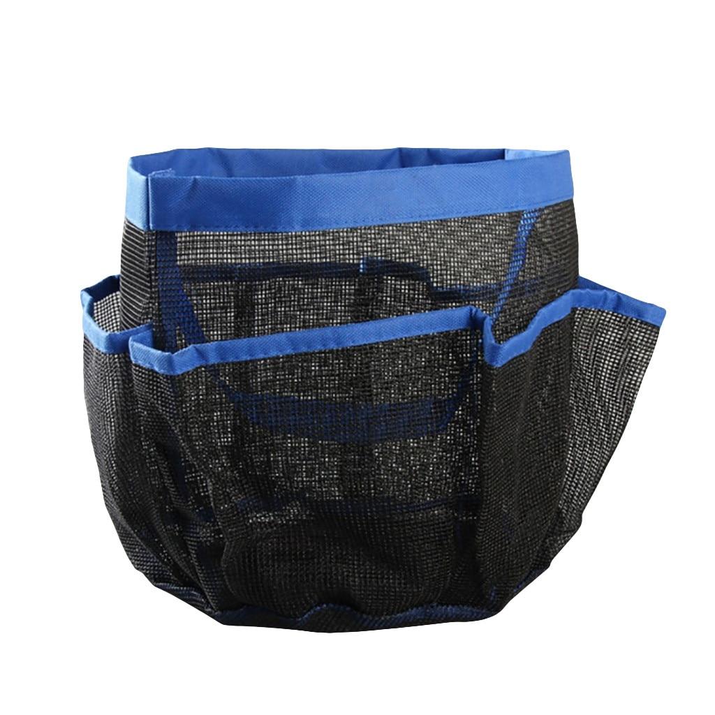 1 шт. креативная Складная 8 Сетка Оксфорд тонкая сетка сумка для хранения для ванной комнаты - Цвет: Blue