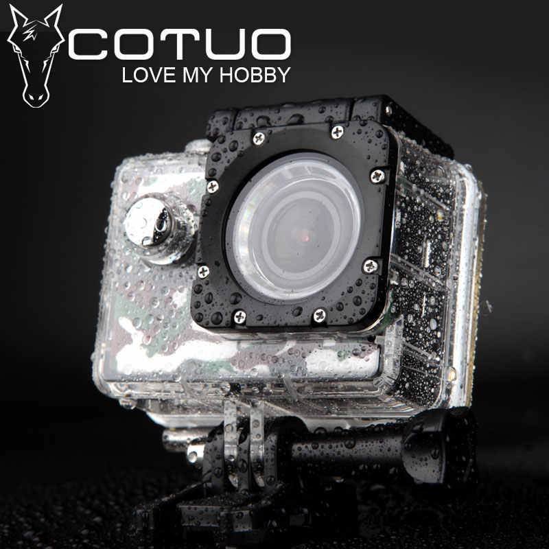 "Спортивная Экшн-камера COTUO CS70 wifi 14MP Full HD 1080 P 30FPS 2,0 ""lcd Дайвинг 30 м водонепроницаемая Спортивная камера мини-камера"