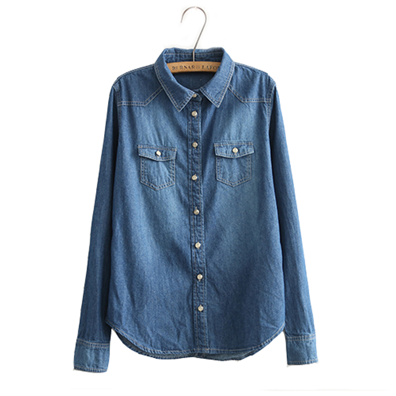 Casual long sleeve shirt, you can roll the sleeve to the length you prefer. Material: Denim. The real color of the item may be slightly different from the pictures shown on website caused by many fact.