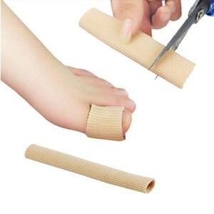 Image 2 - New Fiber silicone khaki Gel Toe Finger Protection Foot Health Care Product Toe Protector #