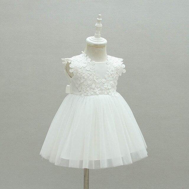 Bianco Vestito Dalla Ragazza Bebes Bambini Vestiti di Cerimonia Nuziale del  Partito Delle Ragazze Vestiti 1 872ece9aedd