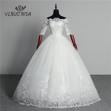 Düğün elbisesi 2020 yeni varış kelebek Gelinlik nakış dantel tekne boyun kapalı omuz prenses abiye Vestidos De Novia