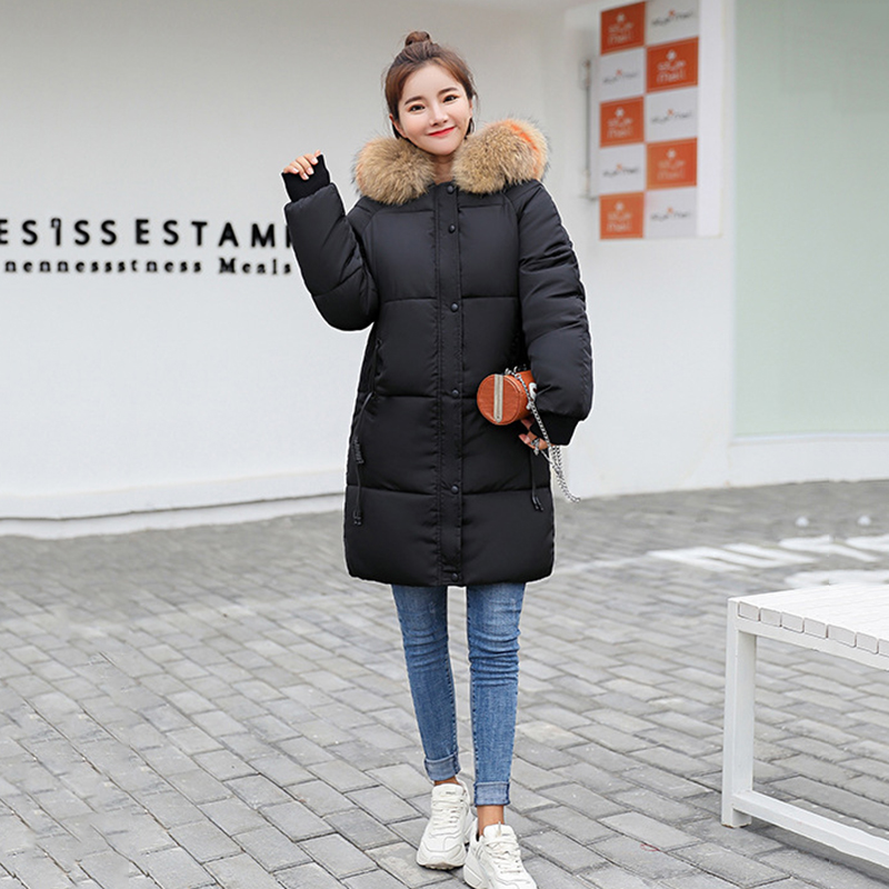 Fur Down Hooded Long Cotton Knee Collar Women Parka Length red Coat Jacket Beige army Quilted black Green gray dYqIx5E