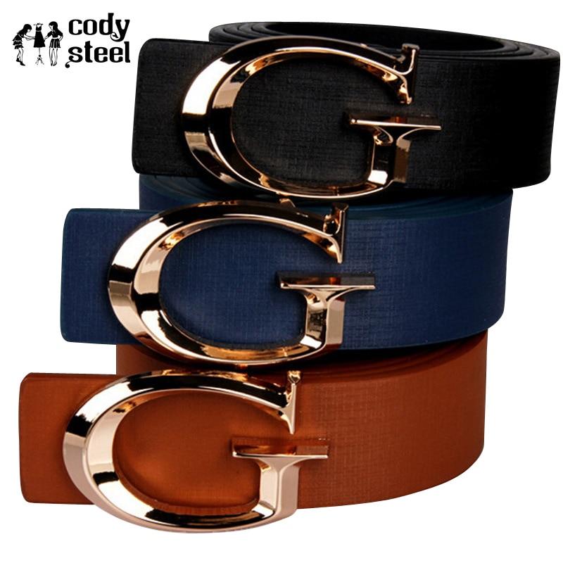 Cody Steel Women Casual Belt Fashion Smooth Buckle Brand Leather Belt For Girl Business Split Leather Belt Woman