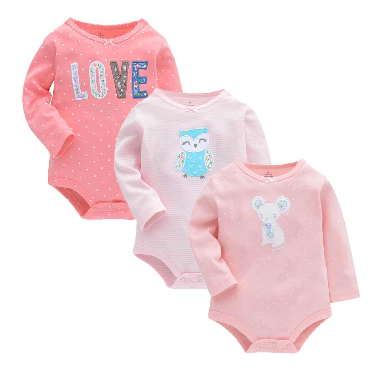 Newborn Infant Outfits Summer Baby Girl Rompers Spring Princess Newborn Baby Clothes For 2y Girls Boys Long Sleeve Jumpsuit Kids Baby Outfits Clothes
