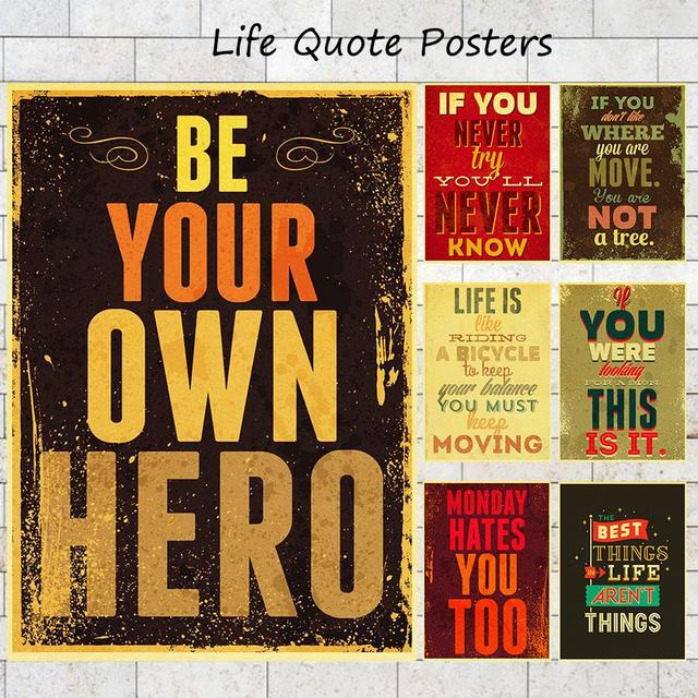 Motivational Inspirational Life Quotes Poster Home Decor Matte Kraft Beauteous Life Quote Poster