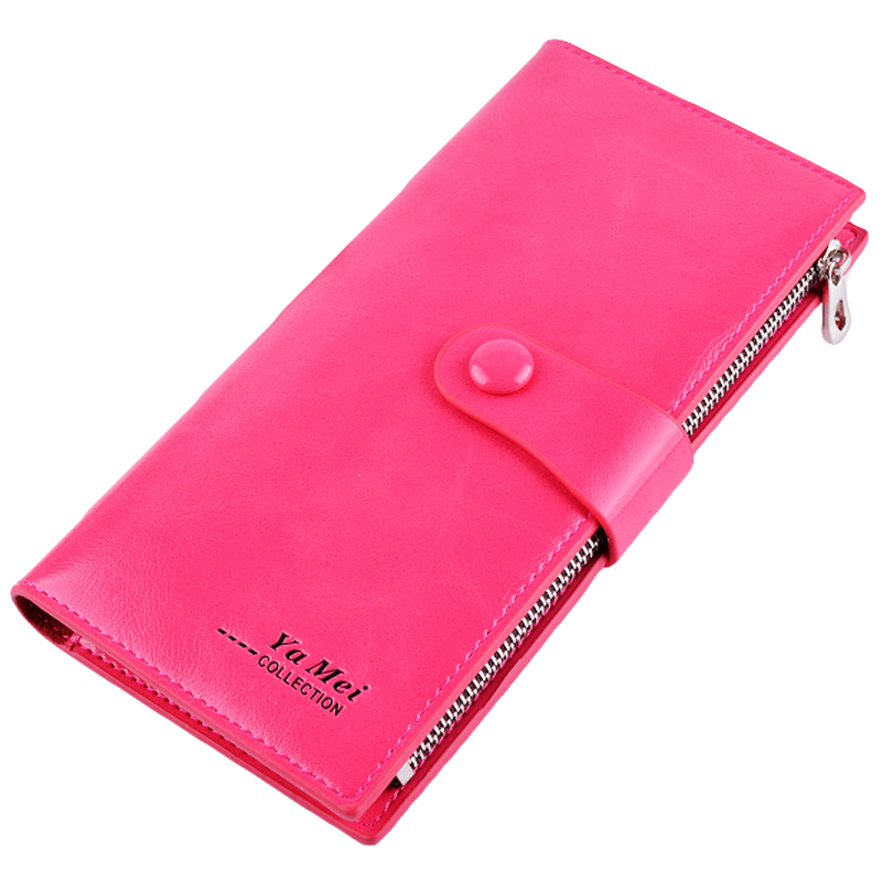 Fashion Women Wallets With Card Holder Zipper Pockets Coin Purses Leather Clutch Lady Long Handbag Carteras Mujer Purse Female 2016 famous brand women clutch wallets top leather long coin purses lady card holder candy color hasp zipper girls phone handbag