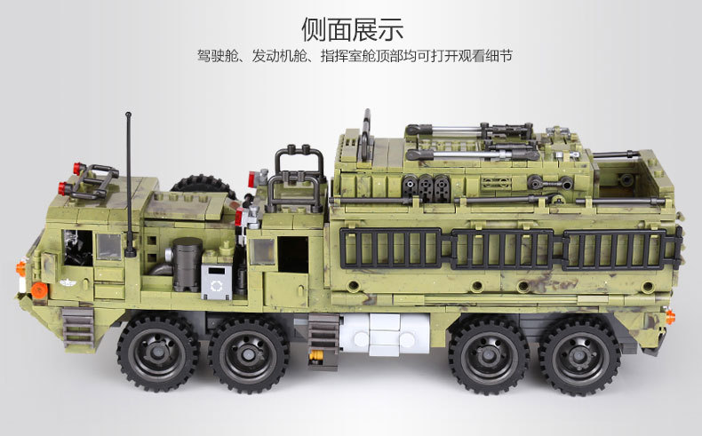 1377Pcs XINGBAO Building Blocks Toys легоe military 06014 Cross The Battlefield Series Bricks Truck Model Gift for Children 4PX 25