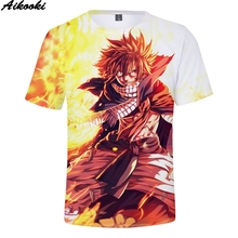 Aikooki Short Slevee 3D T-Shirt Fairy Tail Fashion Hip Hop Men/Women Tops Print Fairy Tail 3D T shirt Men Summer Boys/Girls Tees