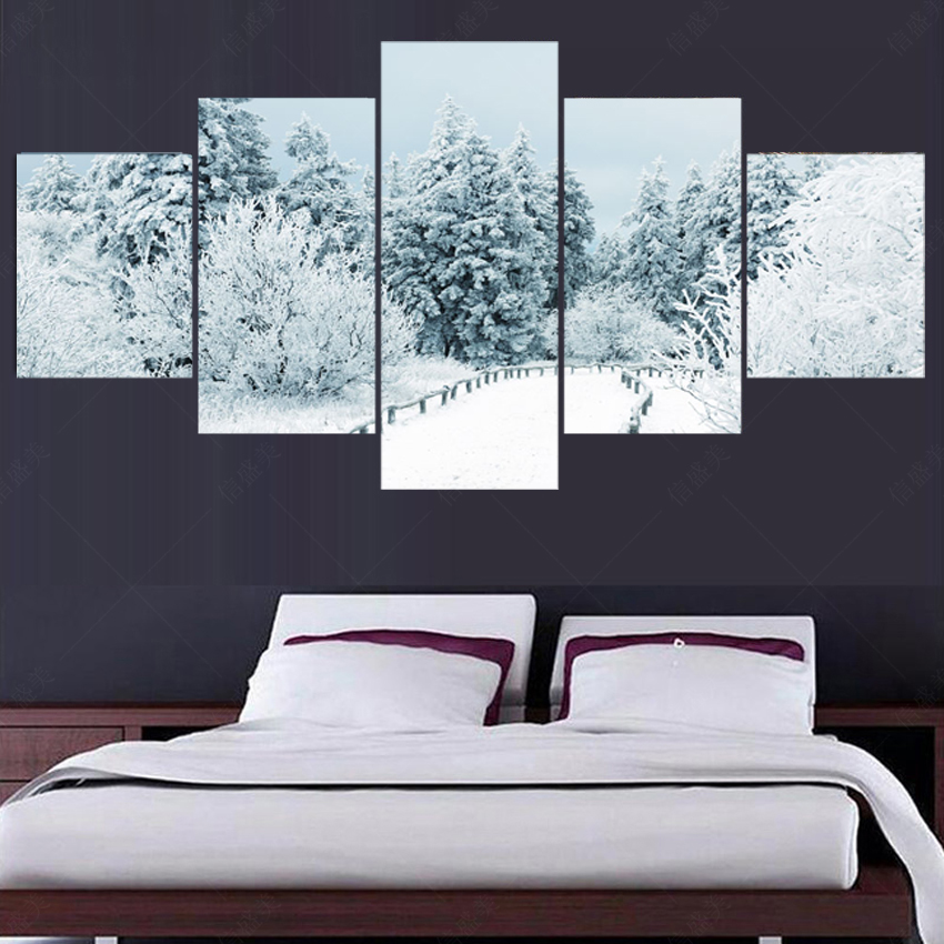 5 piece canvas art no frame oil painting picture wall for 5 piece living room packages