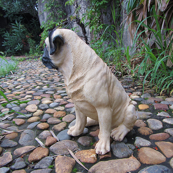 Amazing 30cm Vivid Poly Resin Loyal Cute Pugs Home And Garden Decoration Resin Pet  Dog Statue Garden In Figurines U0026 Miniatures From Home U0026 Garden On  Aliexpress.com ...