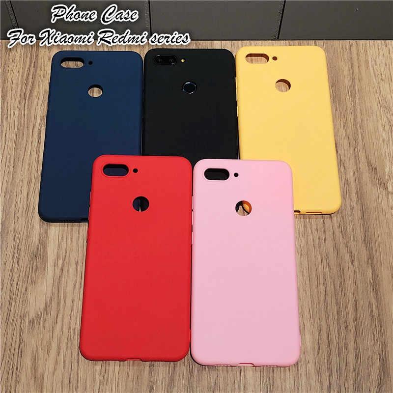 Корпус Прочный чехол для Xiaomi Redmi Note 6 Pro 5A 6A 4X5 плюс Redmi Note 5 4 Pocophone F1 Чехол Мягкий силикон Конфета Случаи Обложка