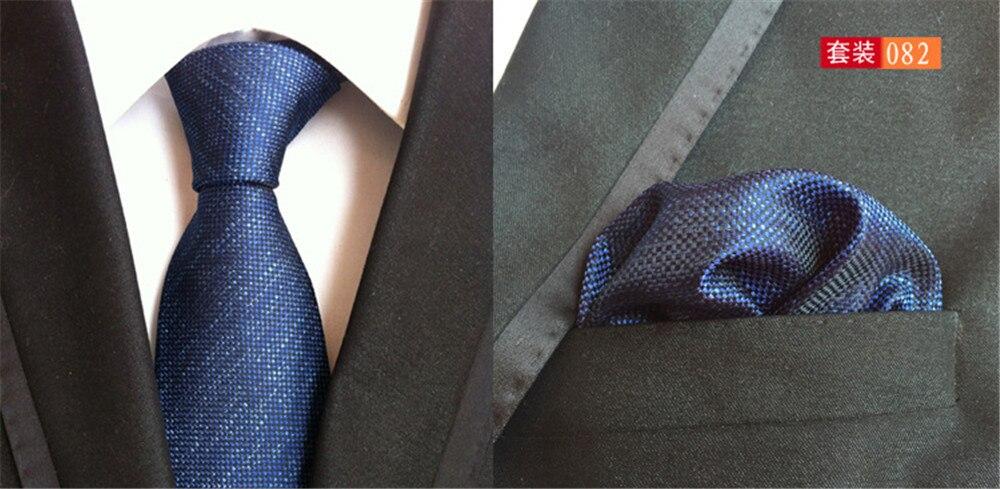 e1e44d084 Cityraider جديد الصلبة ربطة العنق التعادل الرجال الحرير الأزرق للرجال ربطات  العنق الجيب ساحة مع مباراة التعادل 2 قطع تعيين cr016