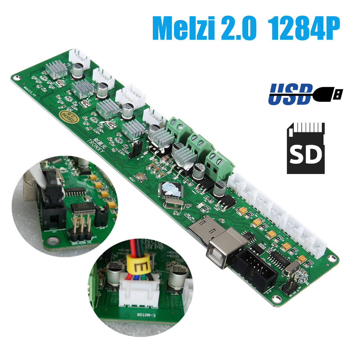 S SKYEE High Quality 3D Printer Controller Board DIY Kit PCB Card Board Mainboard Melzi 2.0 1284P Motherboard DIY melzi 1284p