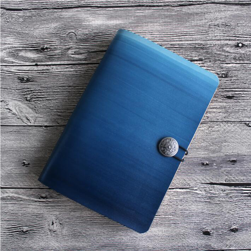 Free Logo Name Engrave Leather Sketchbook Travelers A5 Notebook Diary Loose leaf Spiral Gift School Office Mini A6 Student Diary a6 loose leaf binder notebook leather business lockable writing pads office school supplies logo name customized diary gift