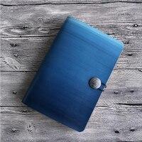Kostenlose Logo Name Gravieren Leder Sketch Reisende A5 Notebook Tagebuch Loose leaf Spirale Geschenk Schule Büro Mini A6 Studentin Tagebuch