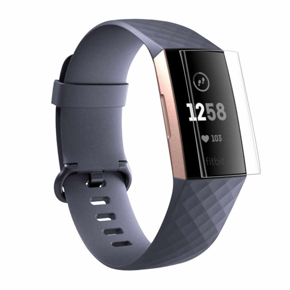 HD Screen Protector Film Voor Fitbit Lading 2 voor lading 3 Armband TPU Ultra Dunne Explosie guard Film Smartwatch accessoires