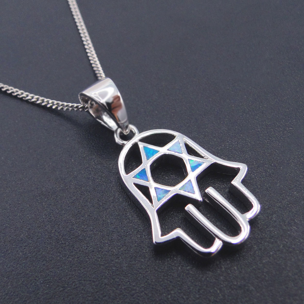 New Arrival Fashion Pendant 100% 925 Sterling Silver Jewelry Blue Fire Opal Cute Pendants Necklace for Women Child without Chain